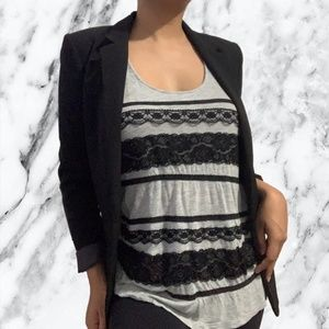 4 for $20 Forever 21 Grey & Black Lace Tank Top